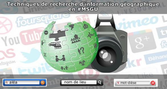 Techniques de recherche d'information géographique en #MSGU