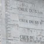 Extrait d'échelle de crue de la Loire