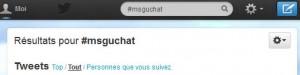 Comment suivre le #msguchat