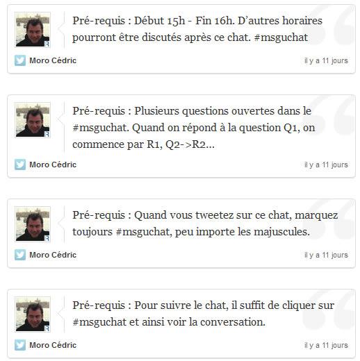 Les pré-requis du #msguchat
