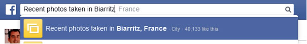 Recherche Facebook par localités