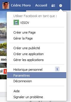 Paramètres de Facebook