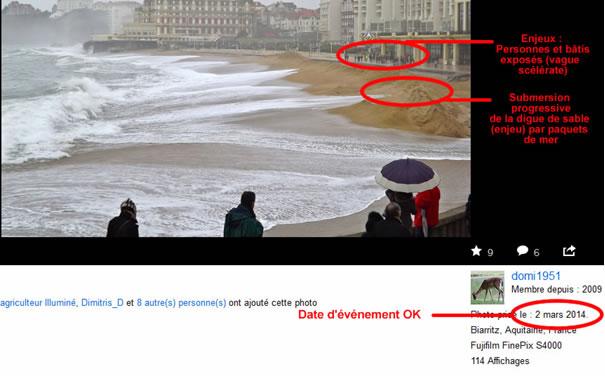 Vérification d'impacts et de datation de photo FliickR