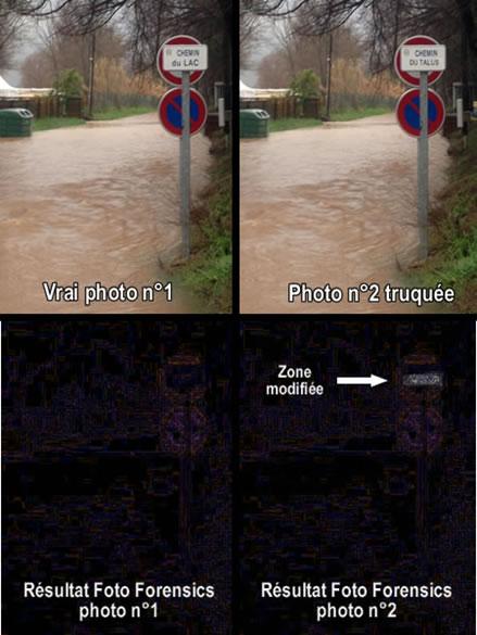 Analyse ELA de fake avec Fotoforensics