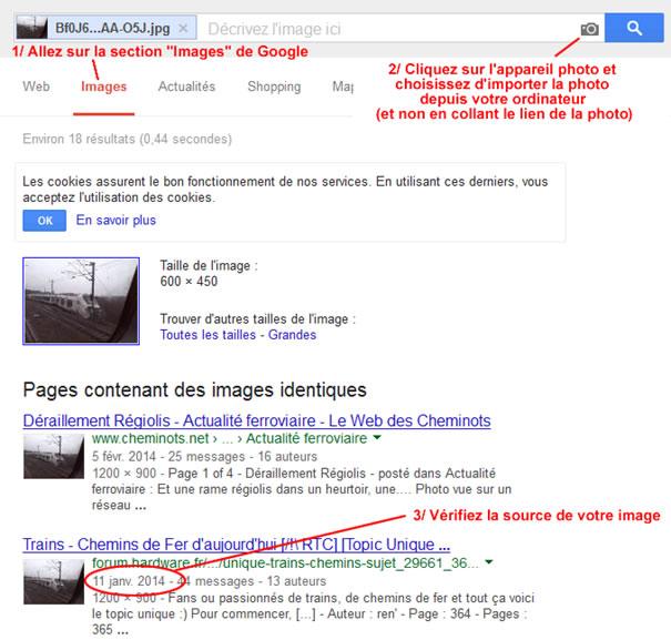 Images similaires avec Google images