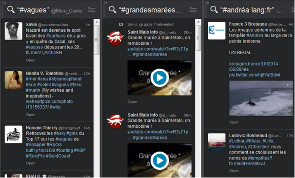 Interface Tweetdeck