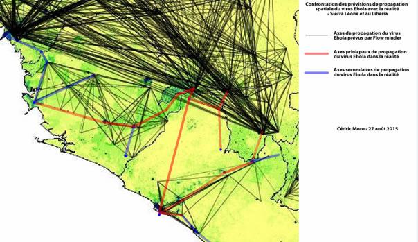 Carte de prévision d'Ebola rectifiée